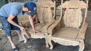 #Amazing Techniques Carpenters Woodworking Skills - Assembly An Antique Chairs In A Modern Style
