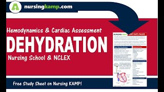 WHat is Dehydration within cardiac Focus NCLEX Nursing KAMP Med Surg NCLEX 2019