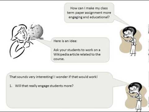 Wikipedia classroom experiment