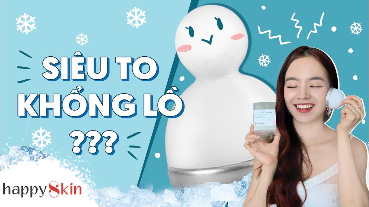 CÂY LĂN LẠNH SIÊU TO KHỔNG LỒ Emmié by Happy Skin có gì HOT |REVIEW FACE&BODY ICE COOLER| Happy Skin