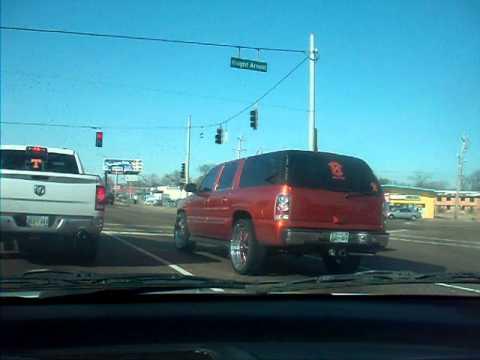 """Kandy Orange Chevy Suburban on 26""""s"""