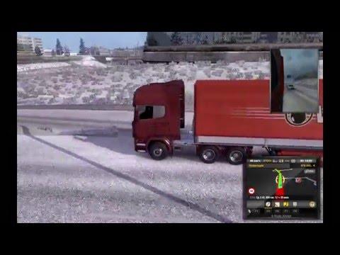 Frosty Winter Weather Mod v5.4 для Euro Truck Simulator 2 / обзор мода Frosty Winter Weather