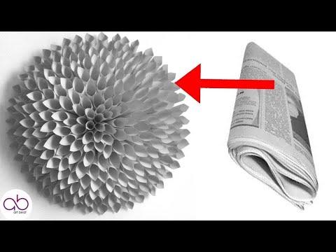 How to make newspaper  flower|Tutorial to make newspaper  flower -ART BEAT