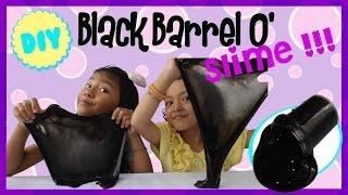 FAKE Black Barrel O Slime - Mudah Tanpa Guar Gum ~ Tanpa Borax Powder| Easy Slime