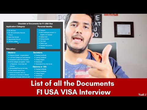 List Of Documents For F1 USA Visa (Part 1) | List Of Documents For F1 VISA | MS In USA