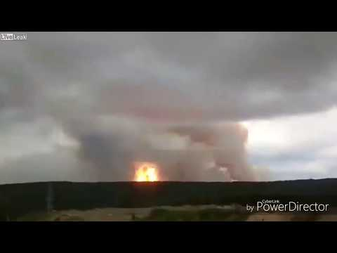 Nuclear Rocket explodes by accident in Russia