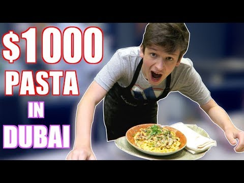 MAKING $1000 PASTA *FOR FREE* IN DUBAI!!!! 🔥