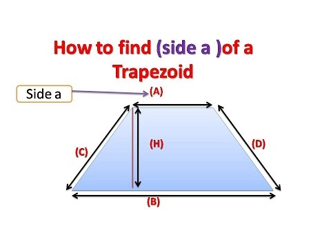 How To Find Base A Of Trapezoid