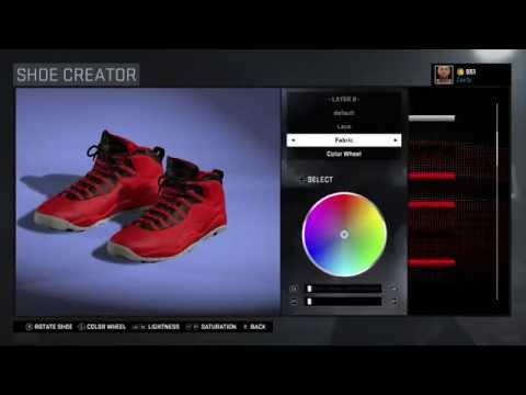 """NBA 2K16 Shoe Creator - Air Jordan 10 """"Bulls Over Broadway"""""""