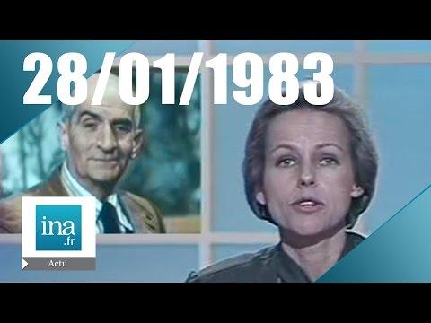 20h Antenne 2 du 28 janvier 1983, Louis de Funès est mort | Archive INA