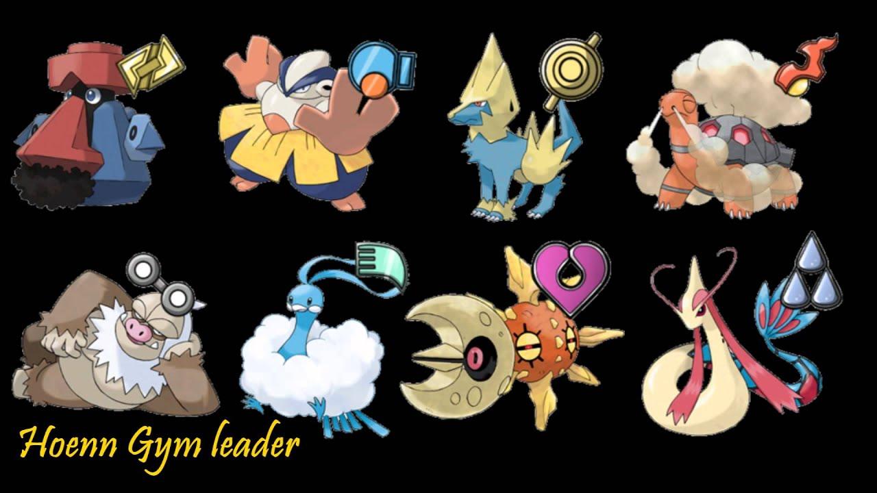 All hoenn gym leaders and their pokemon for Gimnasio 7 pokemon esmeralda