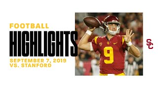 Football: USC 45, Stanford 20 - Highlights 9/7/2019
