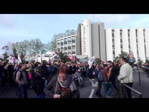 Manifestation contre Marion Maréchal Le Pen en meeting à Bayonne