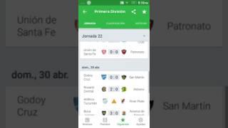 Resultados y tabla de posiciones fecha 22 Primera División Argentina
