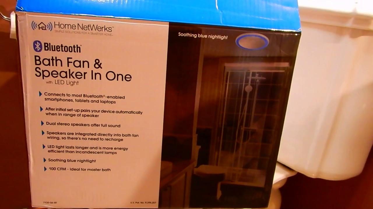Homewerks Bathroom Fan and Bluetooth Speaker Review
