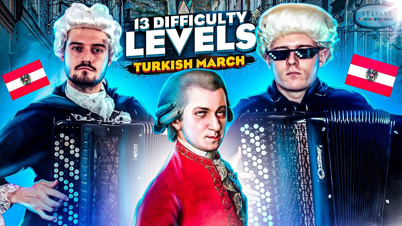 13 Difficulty Levels of the Turkish March | Just Duet