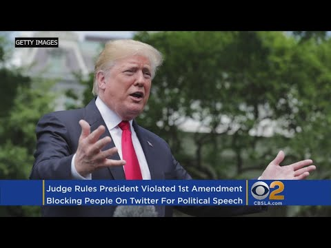 Judge Says Trump Cannot Block Twitter Users Without Violating First Amendment