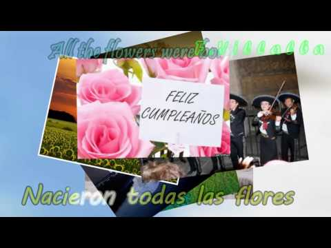 Las mañanitas  Mariachi con letra Lyrics Español Ingles [Spanish-English]