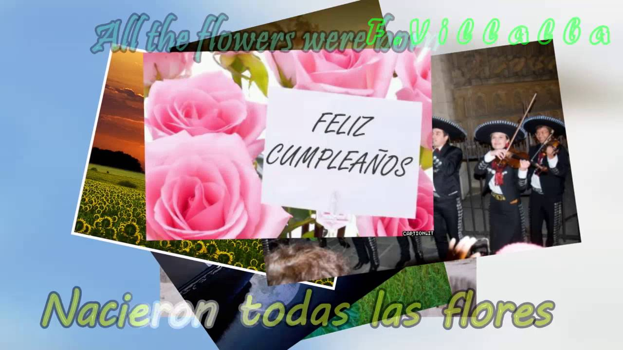 Las Mananitas Mariachi Con Letra Lyrics Espanol Ingles Spanish