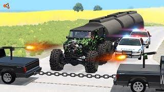 Beamng Drive - Police Chase Machine Gun vs Bandits #5