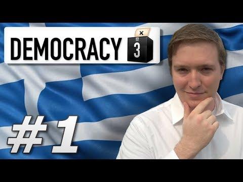 Democracy 3   Max Difficulty Greece - Year 1