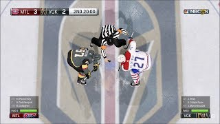 NHL 18 - Vegas Golden Knights vs Montreal Canadiens - Gameplay (HD) [1080p60FPS]