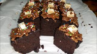 Quick Microwave Oven Brownies(Chewy Brownies)