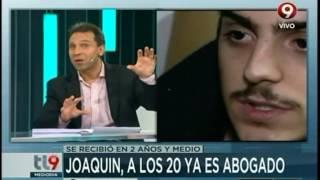 Joaquín, el chico que con 20 años ya es abogado