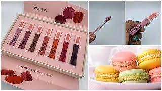 Loreal | Les Macarons | Liquid Lipstick Swatches