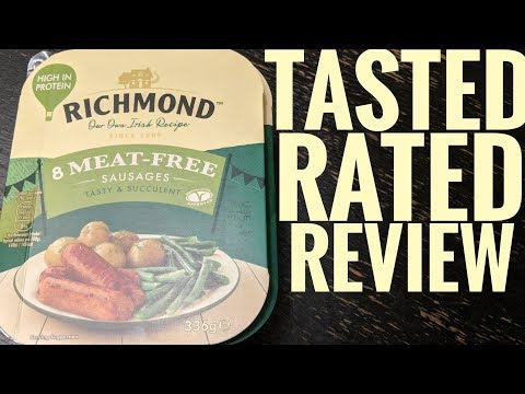 Richmond Vegan Meat Free Sausages tasted rated and review