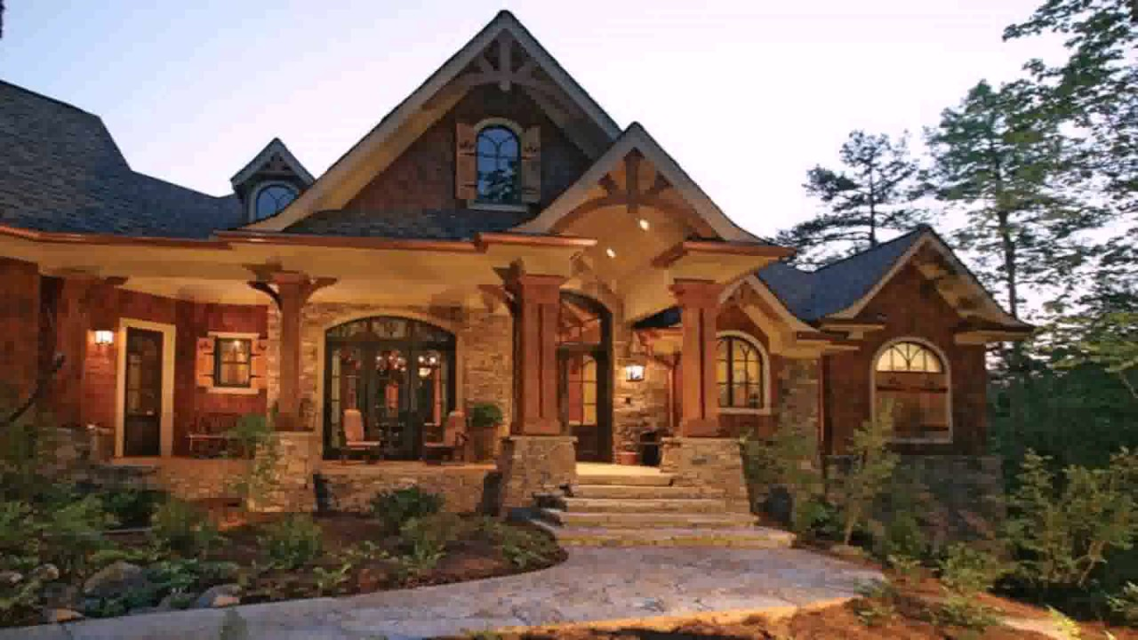 American country house style youtube for Country craftsman home plans
