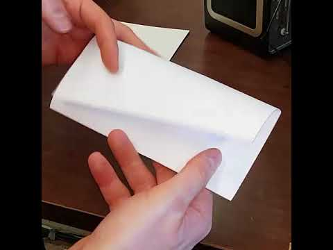 Business letter fold and send it - YouTube