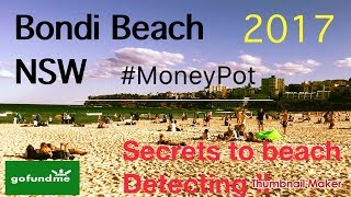 Beach Detecting Secrets exposed at Bondi Beach NSW 🇦🇺 with Tim Davies using Minelab Excalibur2