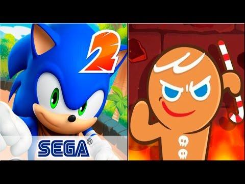Sonic Dash 2 Sonic Boom vs Cookie Run OvenBreak android gameplay