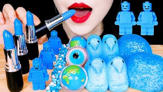 ASMR BLUE FOODS: EDIBLE LIPSTI…