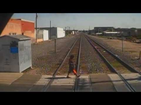 Rail Runner surveillance reveals close calls with trains