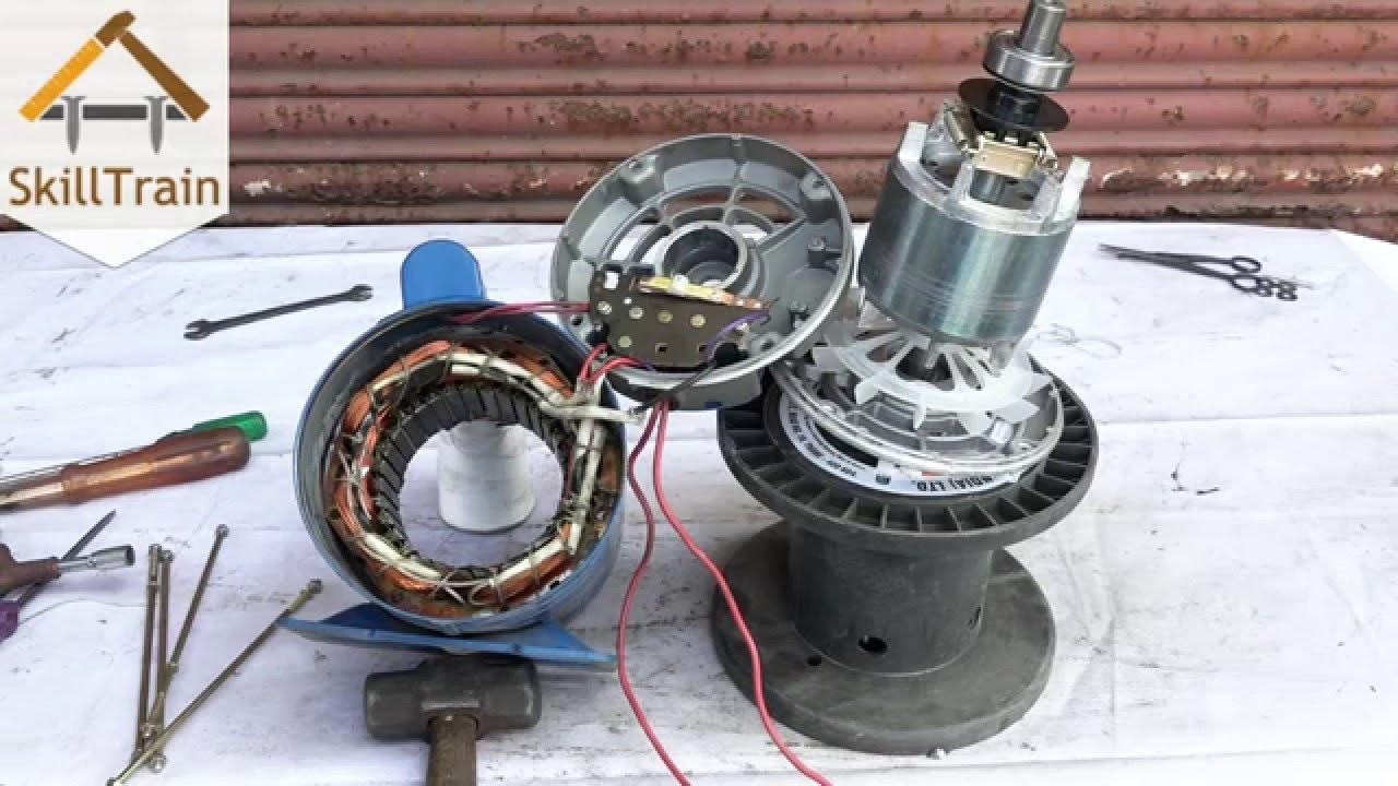 Single Phase Ac Fan Motor Wiring Diagram 1996 Yamaha Blaster Dismantling A Hindi ह न द Youtube