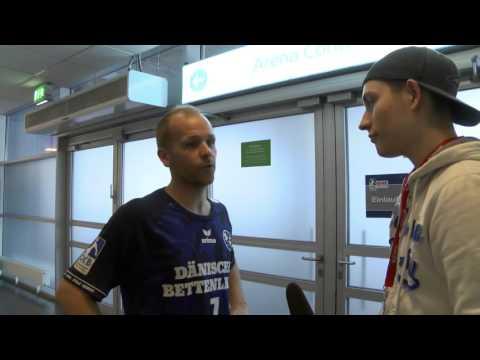 Interview mit Anders Eggert nach dem Einzug ins Pokalfinale.