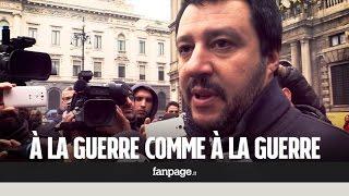 """Salvini dopo la strage di Parigi: """"À la guerre comme à la guerre, sradichiamo l"""