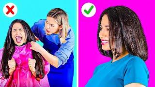 حيل ضرورية لإنقاذ الشعر دون الحاجة للمقص || نصائح تجميلية طريفة ومفيدة