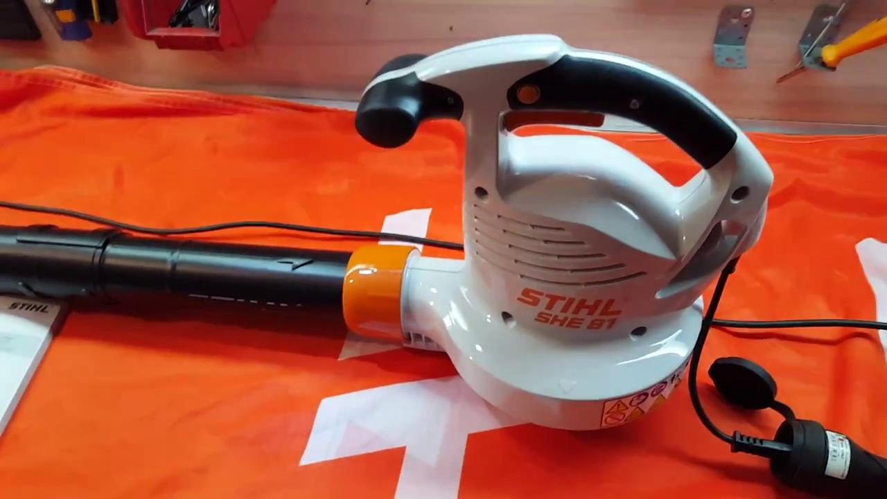odkurzacz ogrodowy stihl she 81 / hand held blower and vacuum unit