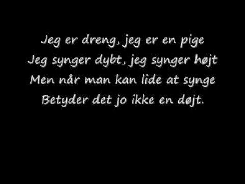 Kaj Og Andrea - Vi Er Gode Venner Med Lyric(: