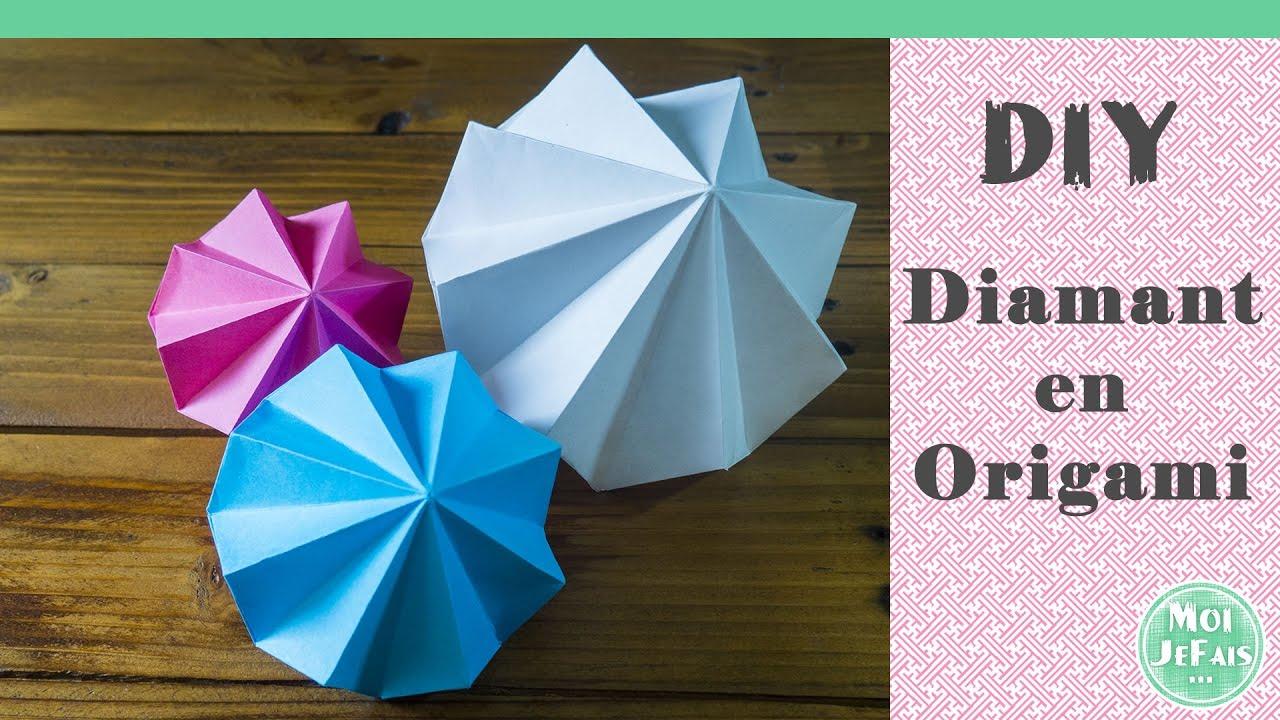Comment Faire Des Boules En Papier diy - déco origami - tuto origami : le diamant - moijefais