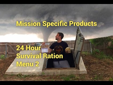 24 Hour Survival Ration - Mission Specific Products: Civilian 24 Hr MRE Tasting (Gusto's Bugout Bag)