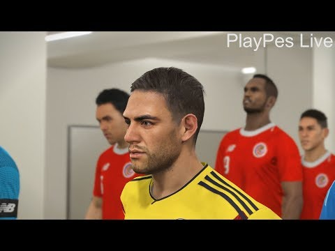 PES 2018 - COLOMBIA Vs COSTA RICA - Full Match & Amazing Goals - PC Gameplay 1080p HD