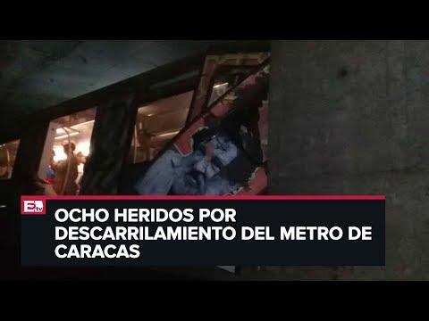Tren del Metro de Caracas se descarrila