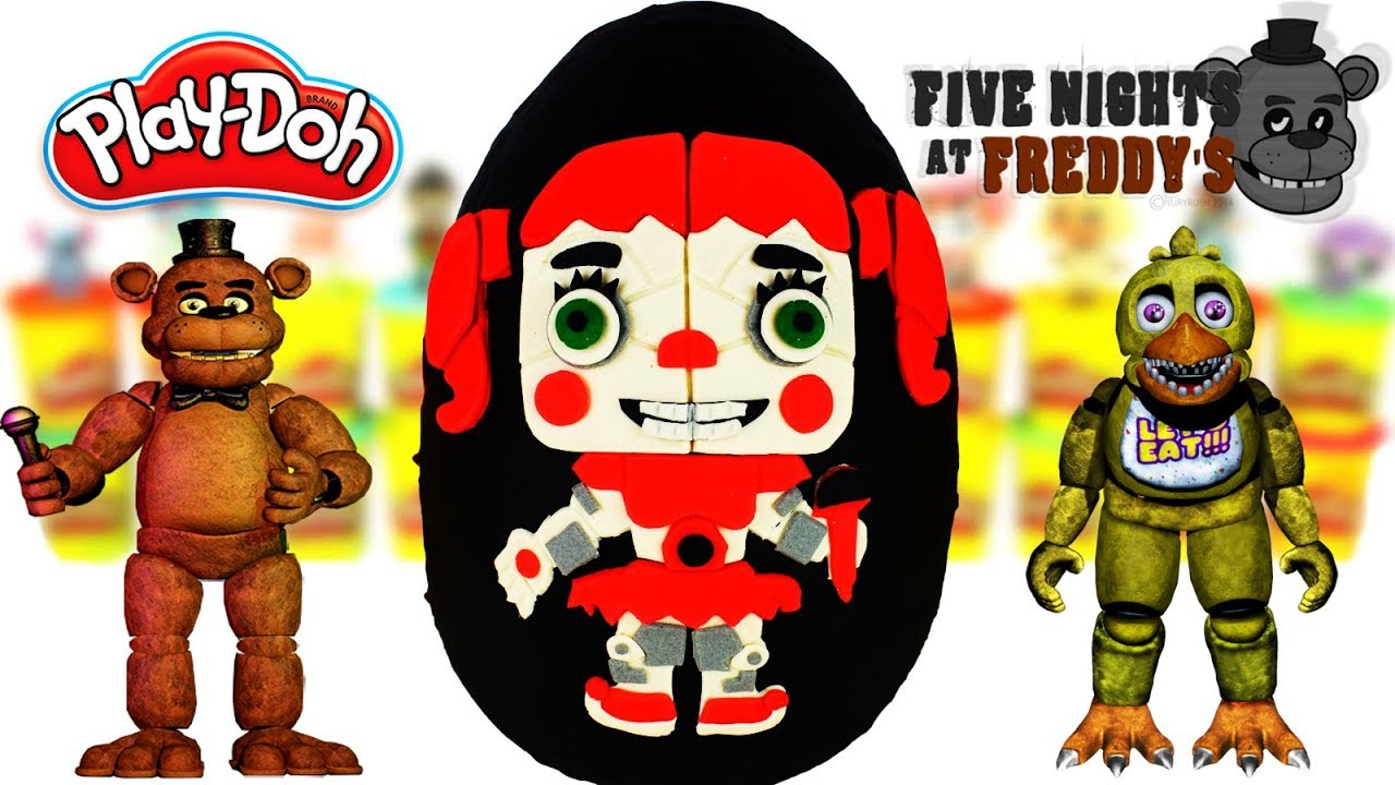 Huevo Sorpresa Gigante de ANIMATRÓNICOS Circus Baby Five Nights at Freddy's de Plastilina