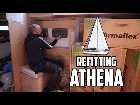 Sail Life - New Nav Station Part 2 (Armaflex Insulation) - DIY Sailboat Restoration