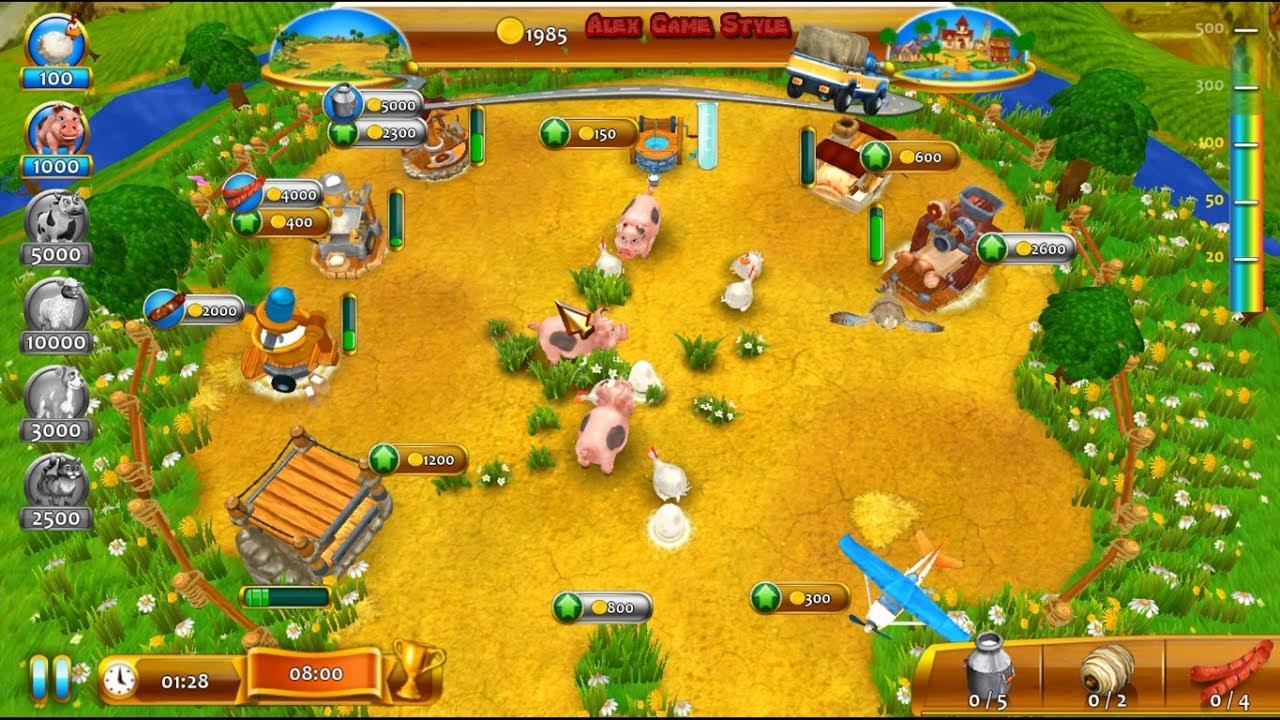 Farm Frenzy 4 (I'm Level 7) only GOLD Walkthrough Gameplay Веселая ферма 4  (Я Уровень 7) Золото