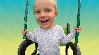 Outdoor Playground for kids Funny Baby | Humpty Dumpty Songs